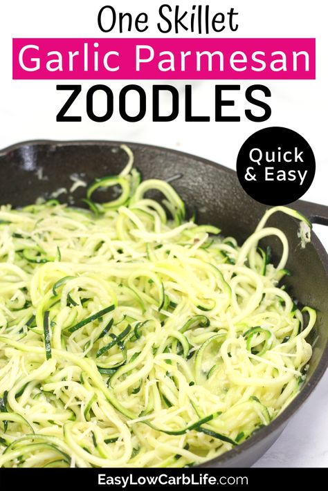 Ultimate Guide: How to Cook Zucchini Noodles (with Easy Skillet Recipe) - Paleo Crockpot Cook Zucchini Noodles, How To Cook Zucchini, Zucchini Noodle Recipes, Veggie Noodles, Veggie Recipes, Pasta Recipes, Cooking Recipes, Healthy Recipes, Vegan Zoodle Recipes