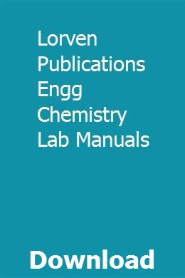 Lorven Publications Engg Chemistry Lab Manuals Gesagave