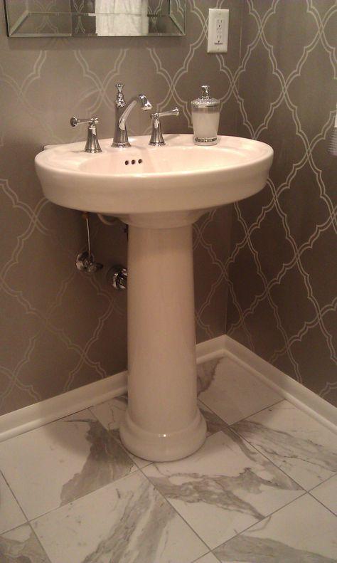 Devonshire 27 Inch Pedestal Lavatory By Kohler 8 Inch Faucet