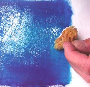 Huile Choisir Son Eponge Peindre Avec Une Eponge Peinture Et