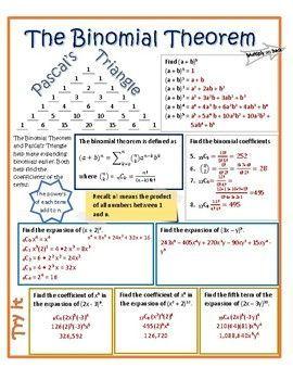 Pin By Dee On Kusu Binomial Theorem Mathematics Worksheets Theorems