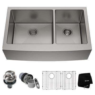 Search Results For Black Stainless Steel Farmhouse Sink At The Home Depot Mobile In 2020 With Images Apron Sink Kitchen Double Bowl Kitchen Sink Stainless Steel Kitchen Sink