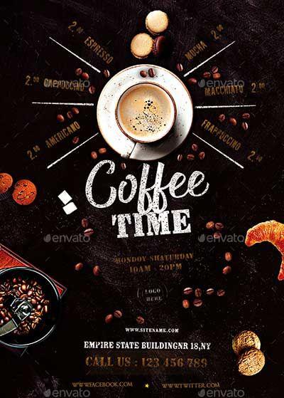 50 Best Coffee Shop Flyer Print Templates 2020 Gambar