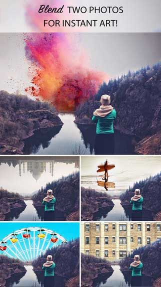 نتيجة بحث الصور عن صور مندمجه Instant Art Photo Merge Double Exposure