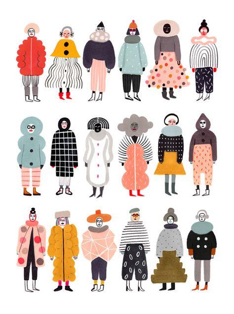Stay warm Giclée Fine Art Print Illustration – Print SALE – Buy 2 Get 1 Free - Architect Pools