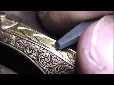 Hand Engraving Practice Watch Border Design Wheat Sheaf by Shaun Hughes - YouTube