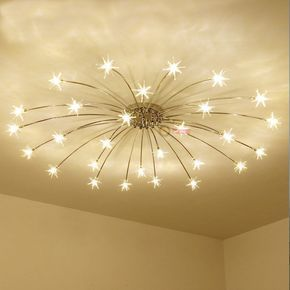 Modern Meteor Glass Dandelion Led Chandelier Pendant Lamp Ceiling Lighting Light Ceiling Lights Bedroom Ceiling Light Star Lights On Ceiling
