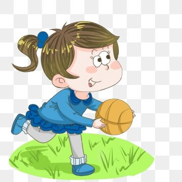 Fitness Yellow Basketball Playing Basketball Little Girl Playing Basketball Cute Little Girl Green Meadow Fitness Png Transparent Clipart Image And Psd File Clip Art Cute Little Girls Book Baskets