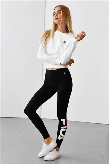 Fila + uo logo legging - urban outfitters apparel in 2019 фитнес одежда, од