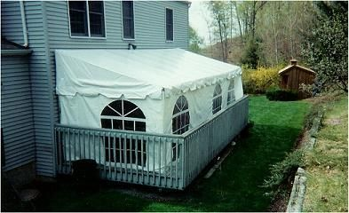 Tent 10 X 15 Deck Tent Awning I Wonder If Something Like This Would Work On The Side Or Front Deck Tent Awning Tent Rentals Tent