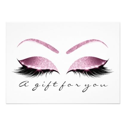 Gift Certificate Browns Pink Lashes White Makeup Zazzle Com Pestañas Dibujos Pestañas Extensiones De Pestañas Mink