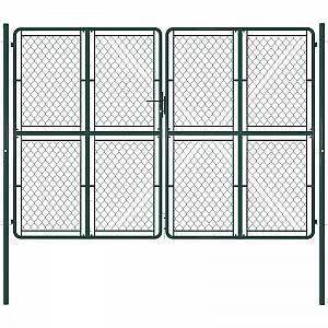 Vidaxl Garden Gate Steel 300x200 Cm Green Modern Design In 2020 Gartentor Zauntor Stahlzaun
