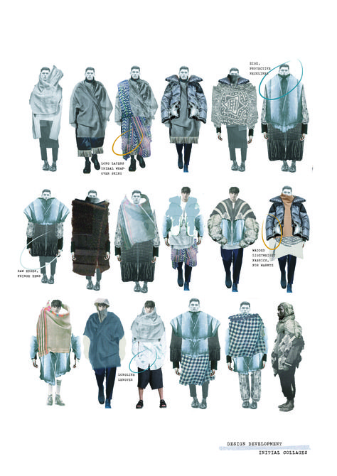 Fashion Portfolio - collection development; lineup; fashion illustrations; fashion sketchbook // Amie Edwards