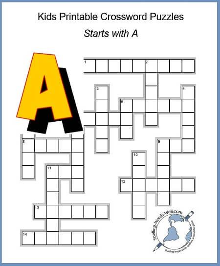 photograph relating to Kids Crossword Puzzles Printable referred to as Enjoyable Little ones Printable Crossword Puzzles Crossword Puzzles for
