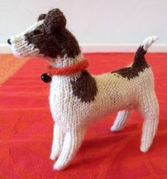 Free Knitting Pattern For Jack Russell Toy Dog Softie Amigurumi