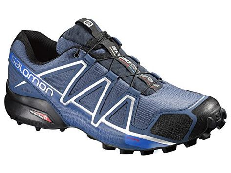 Salomon Mens Speedcross 4 Trail Running Shoes Slate Blue