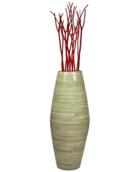Uniquewise Bamboo Floor Vase 27 5 Tall Reviews Vases Home Decor Macy S Flooring Bamboo Vase