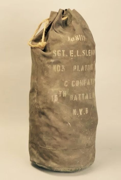 Canvas Military Duffle Bag, WWII