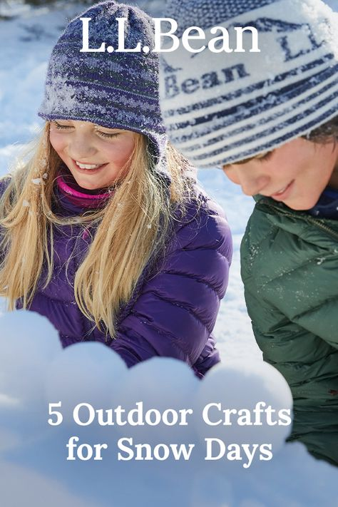 Winter is the perfect time to come together for fun activities – indoors and out. Here are 5 ideas to help you and your family create, build and play all season long.