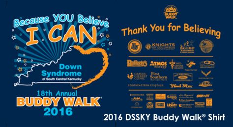 DSSKY 18th Annual Buddy Walk® Bowling Green 2016 Down Syndrome of South Central Kentucky