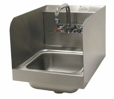 Advance Tabco 12 X 16 Wall Mounted Handwash Station With Faucet Wayfair Advance Tabco Faucet Sink