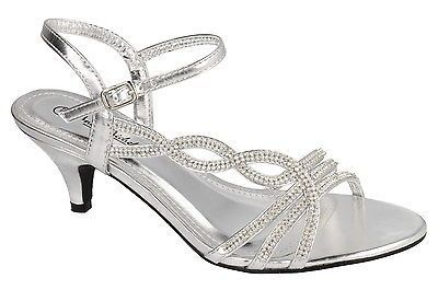 SALE** Ladies Silver Diamante Sandals