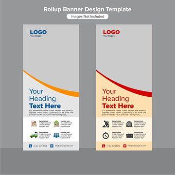 الشركات التراكمي تصميم شعار القالب Rollup Banner Design Banner Template Design Rollup Banner