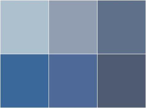 nuances de peinture bleu gris tendance à utiliser dans la chambre, le salon ou la salle à manger
