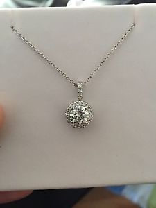 necklace moissanite set designs viaggio llc products bel pendant six stone bezel ctw