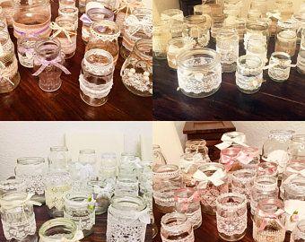 Vintage Decoset Wedding Vases Tea Lights 15 Pieces Teelichthalter Tischdeko Hochzeit Vintage Und Hochzeitsvasen