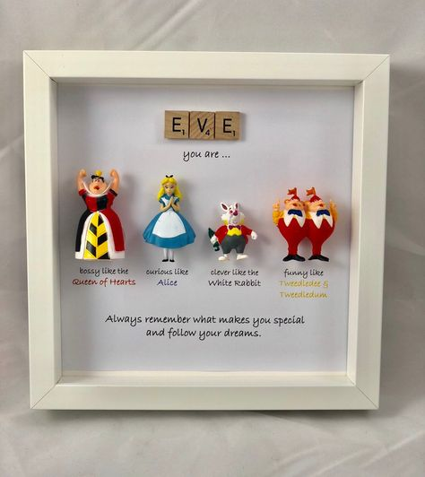 Excited to share this item from my #etsy shop: Alice in wonderland and friends style frame-  sister- daughter-friend- flower girl gift- son