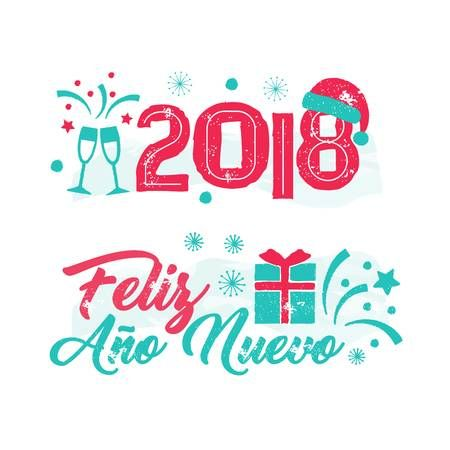 Vector Stock - Happy new year in spanish. Clipart Illustration gg101198792  - GoGraph