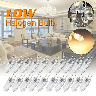 Sponsored Link 10 20pcs 10w 12v G4 Clear Halogen Globe Bulb Capsule Light Lamp Blubs K In 2020 Lighting And Ceiling Fans Halogen Bulbs Globe Bulb
