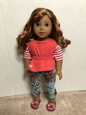 American Girl Doll Custom Ooak Nanea Red Hair Brown Eyes Medium