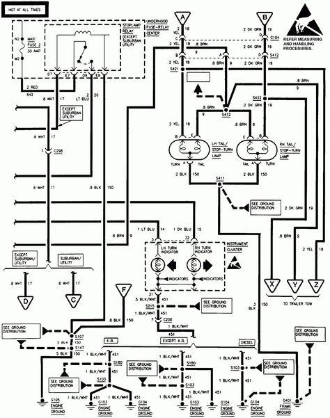 52 1998 Chevy Silverado Brake Light Wiring Diagram