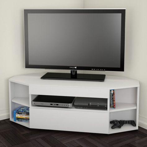 Nexera Blvd Corner Tv Stand White From Hayneedle Com Stack 2 For