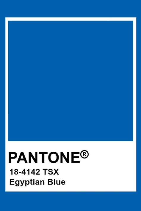 Pantone Egyptian Blue