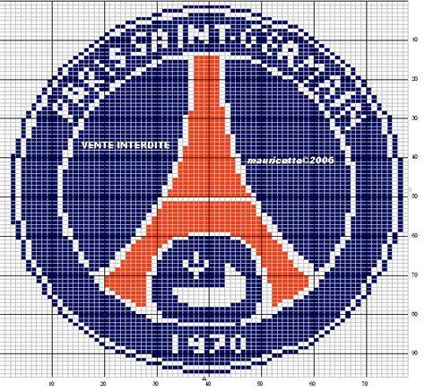 Grille Gratuite Le Logo Du Psg Psg Pixel Art Art Logo