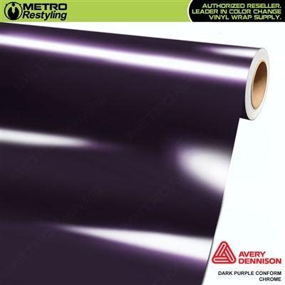 Metro Avery Dennison Gloss Dark Purple Conform Chrome Flexible Vinyl Wrap Film In 2020 Dark Purple Chrome Dennison