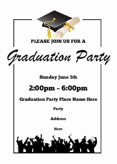 Graduation Invitation Templates Microsoft Word Luxury Use I Print Templ Graduation Invitations Template Graduation Invitations Graduation Announcement Template