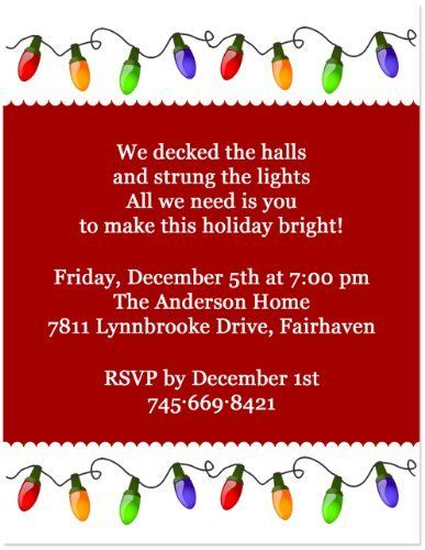 Christmas lights holiday party invitation 5x7 set of 20 by christmas lights holiday party invitation 5x7 set of 20 by blessexpress 2200 this christmas lights holiday party invitation will twinkle and stopboris Image collections
