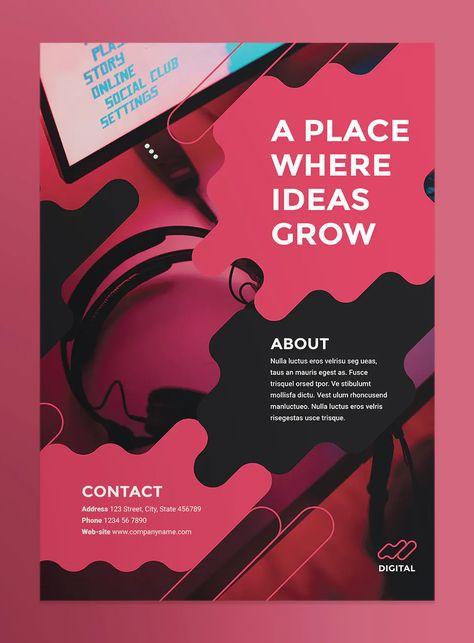 Digital Advertising Agency Poster Layout