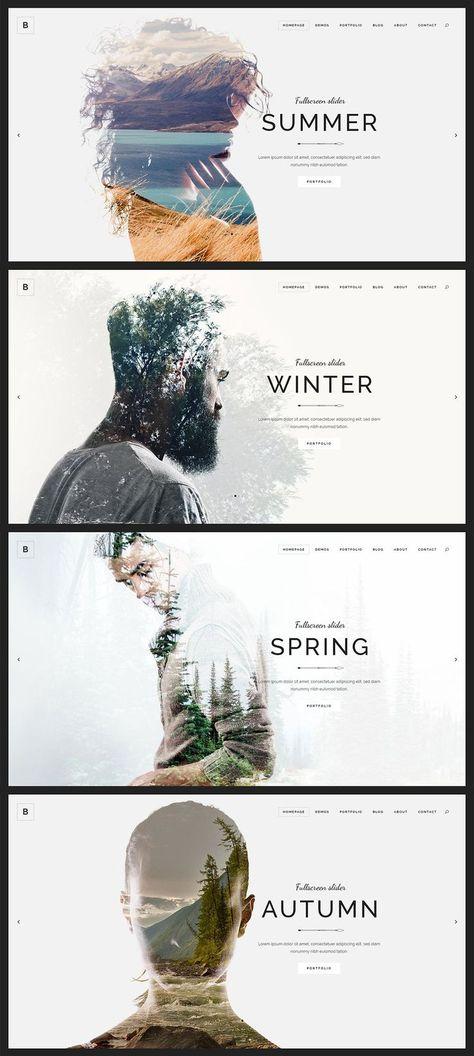 Vous recherchez l'inspiration pour un design créatif pour vos sites Web ...