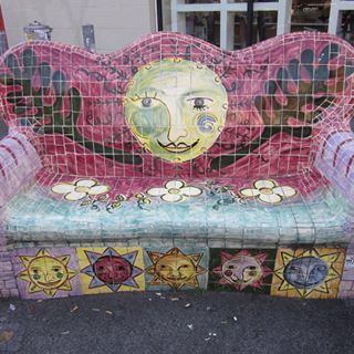 Mosaic couch in Brunswick St, Fitzroy VIC #MosaicCouch