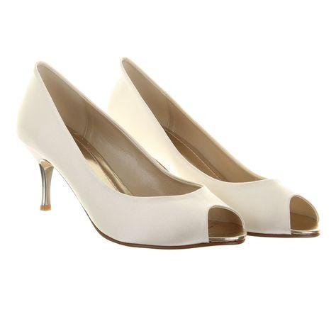 Rainbow Club Gisele Shoes Ivory Satin | White wedding shoes