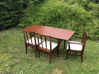 Mesa comedor + 6 sillas YOUNGER años 60´s de segunda mano ...