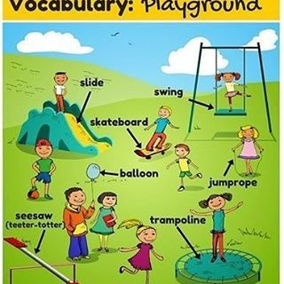 Playground vocabulary . . . #englishforlife #englishisfun #englishsongs  #inglese #englishtips #ingl #grammar #learnin… | Kids english, English  exercises, Vocabulary