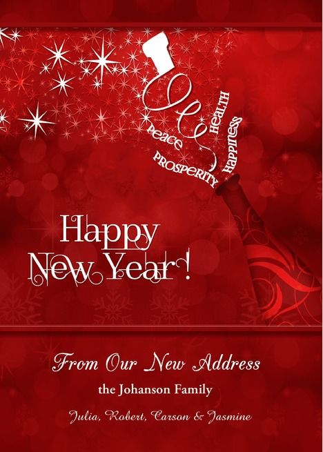 New Address Custom New Year Champagne In Red And White Card Ad Affiliate Year Custom Address Champagne Colorful Business Card Cards Red And White