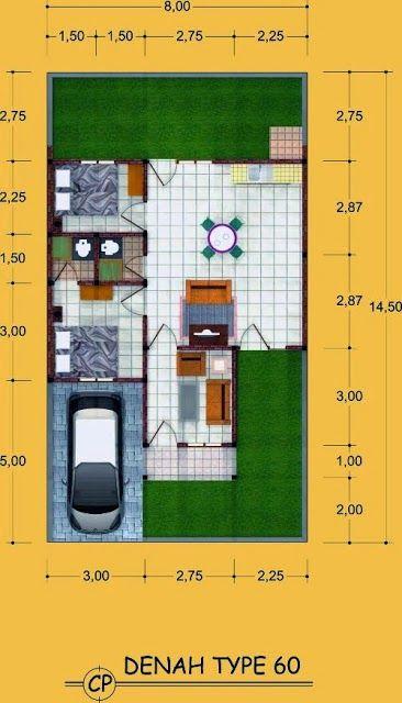 Denah Rumah Minimalis Type 60 Rumah Minimalis