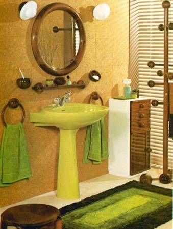 Im Farbrausch Bader Der 70er Jahre Badezimmer Grun Bad 70er